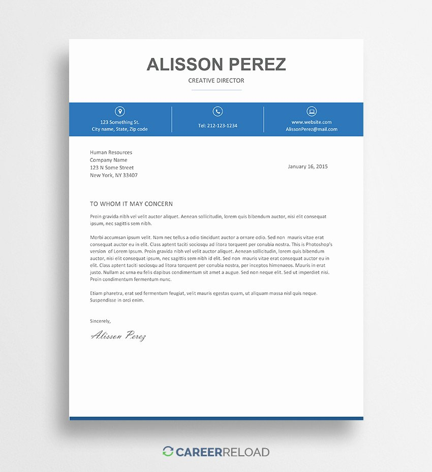 Cover Letter In Word Fresh Free Cover Letter Templates for Microsoft Word Free Download