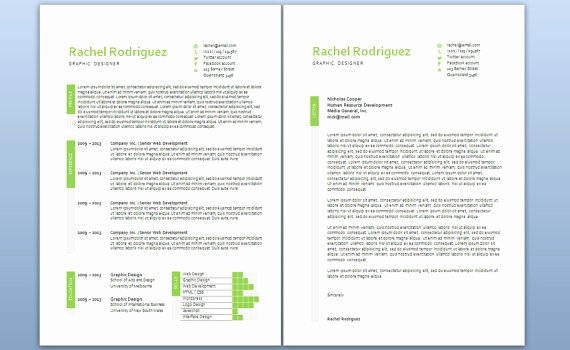 Cover Letter In Word Lovely Modern Microsoft Word Resume and Cover Letter Template by