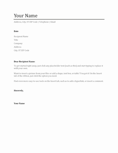 Cover Letter In Word Unique Resumes and Cover Letters Fice