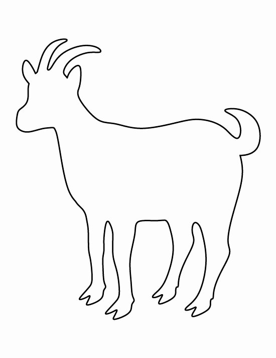 Cow Cut Out Template Awesome Goat Pattern Use the Printable Outline for Crafts