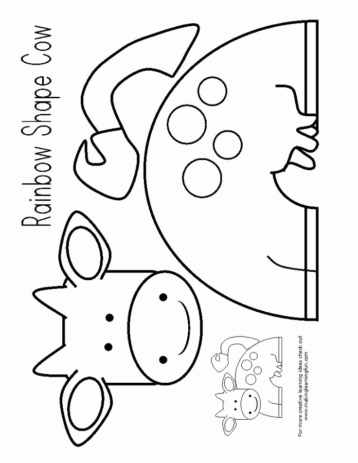 Cow Cut Out Template Beautiful Best 25 Cow Craft Ideas On Pinterest