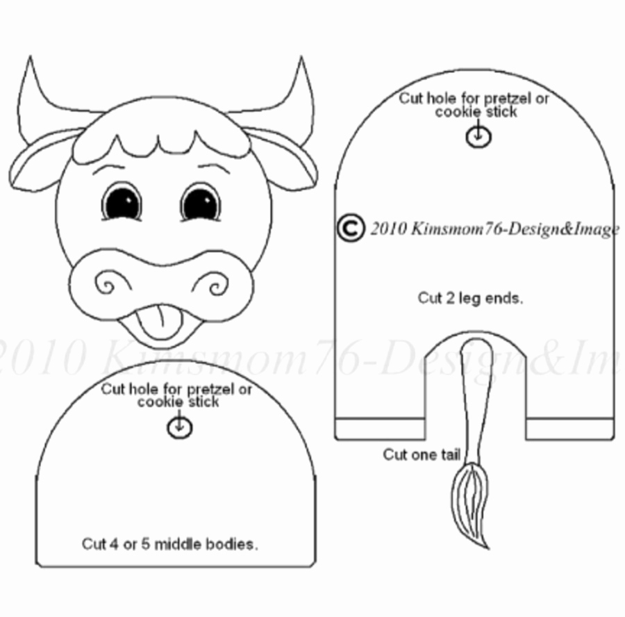 Cow Cut Out Template Best Of 3 D Farm Animal Cookie Pattern Cakecentral