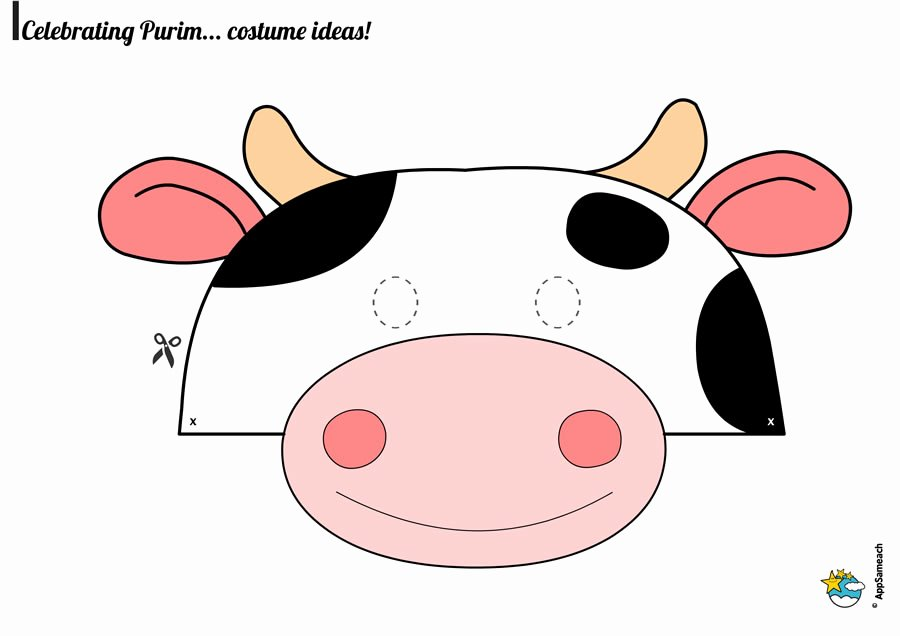 Cow Cut Out Template Best Of Cow Mask Printable