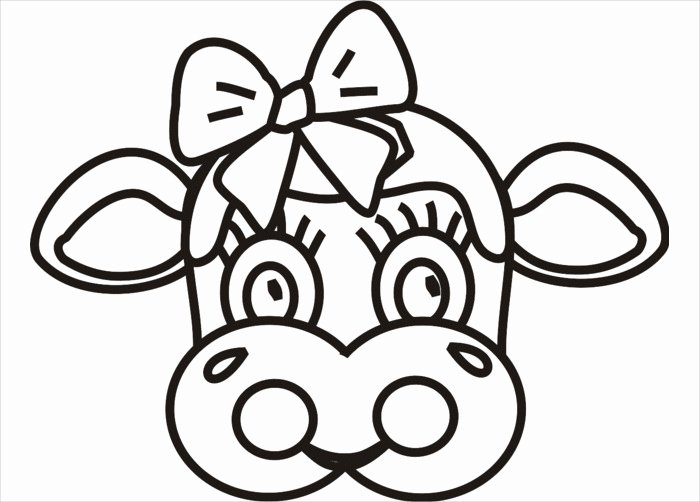 Cow Cut Out Template Elegant Animal Mask Template Animal Templates