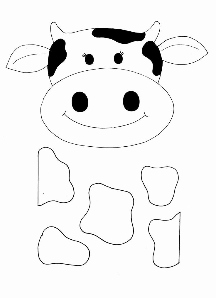 Cow Cut Out Template Fresh Cow Craft Printable Google Image Result for