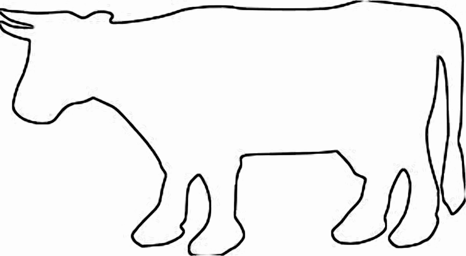 Cow Cut Out Template Lovely Cow Outline Cliparts