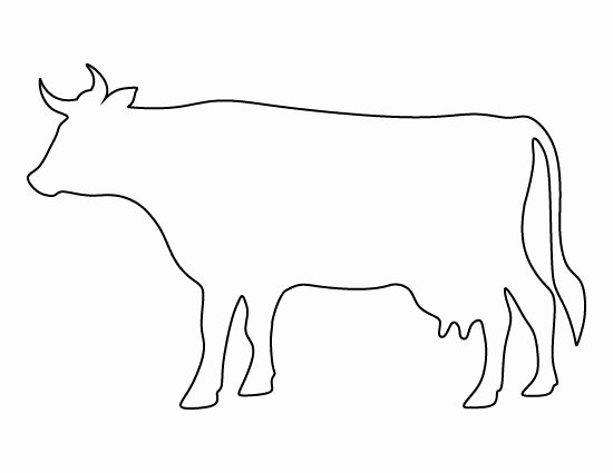 Cow Cut Out Template New Cow Pattern Use the Printable Outline for Crafts