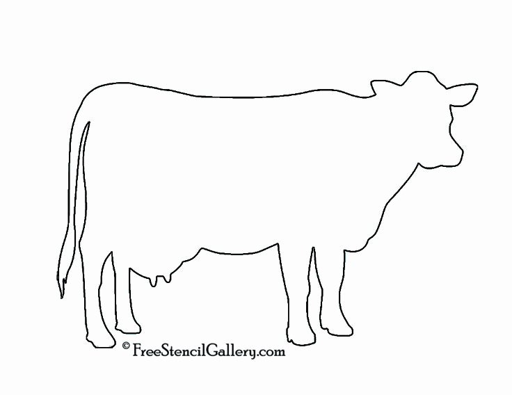 Cow Cut Out Template New Cow Silhouette Stencil Future Home Pinterest