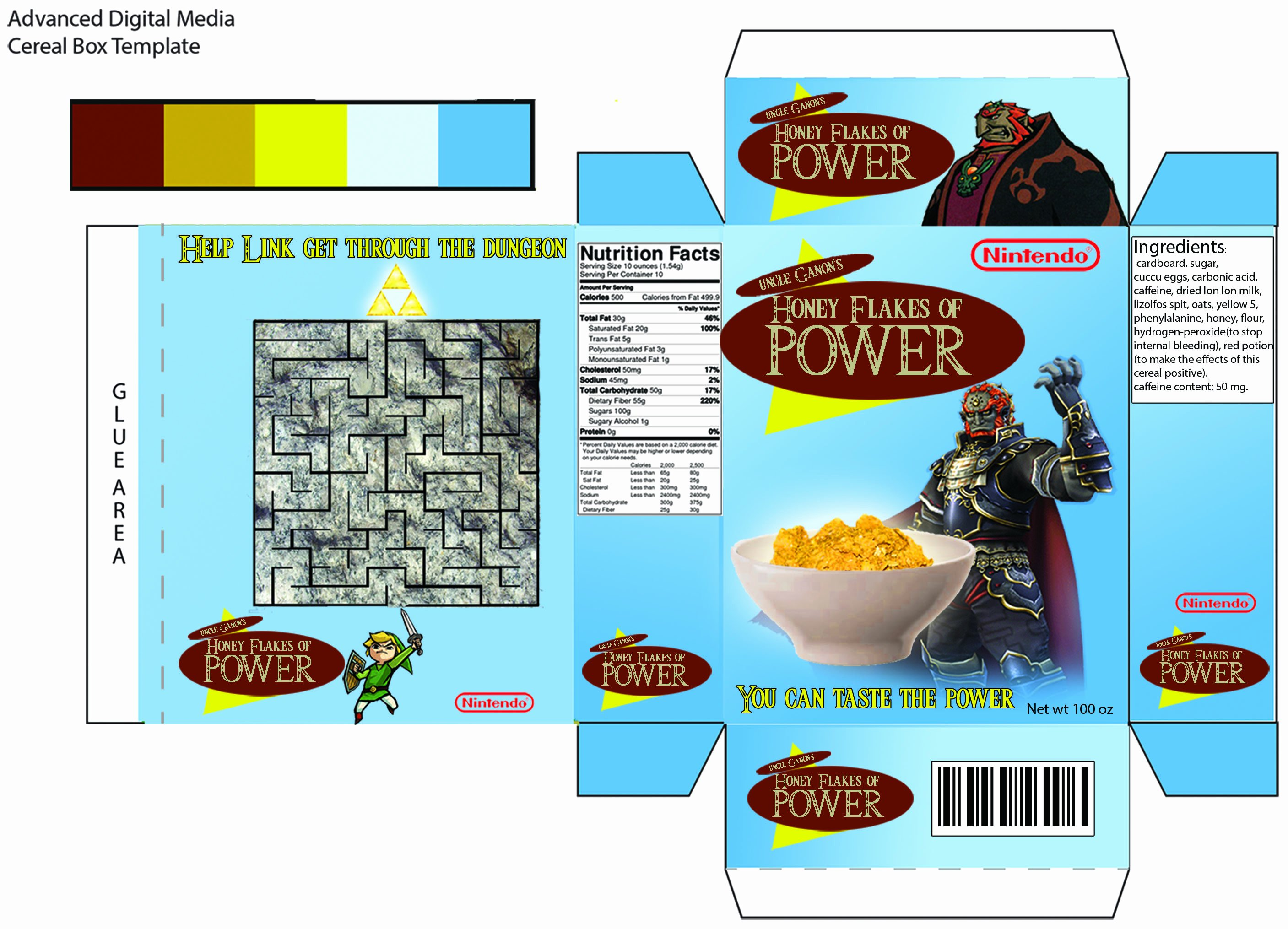 Create A Cereal Box Beautiful Cereal Box Project