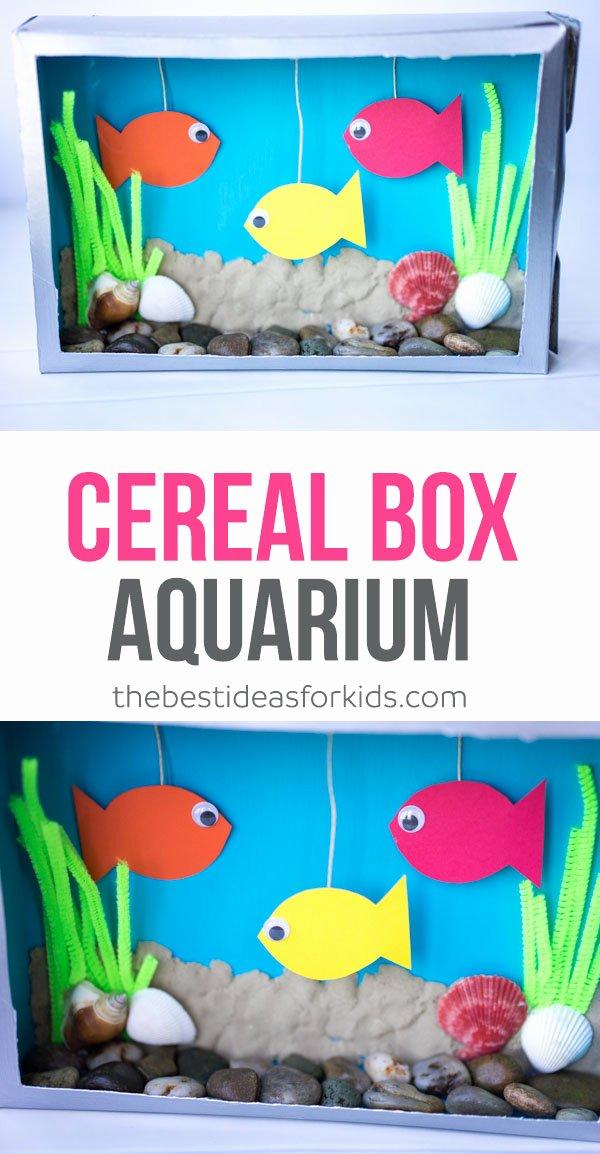 Create A Cereal Box Elegant Cereal Box Aquarium the Best Ideas for Kids
