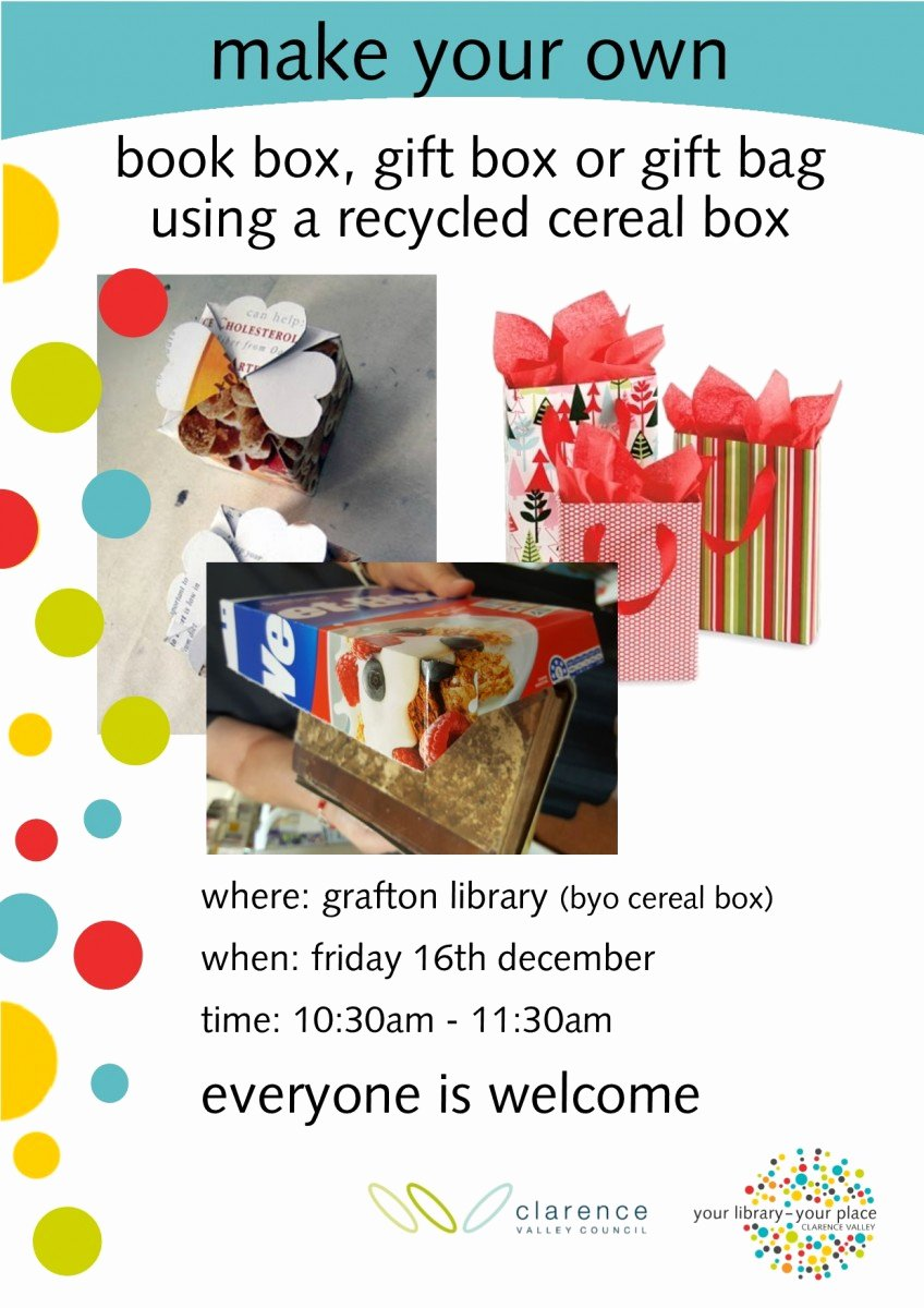 Create A Cereal Box Elegant Make Your Own Clarence Regional Library