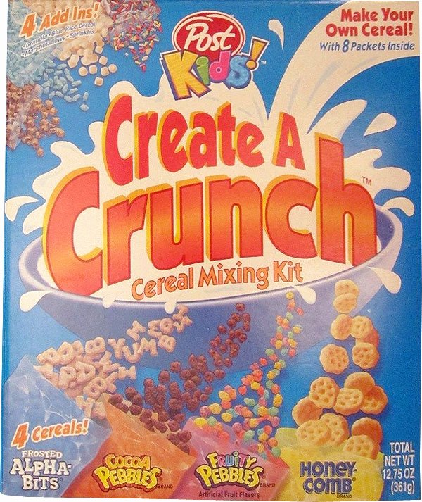 Create A Cereal Box New Create A Crunch Cereal