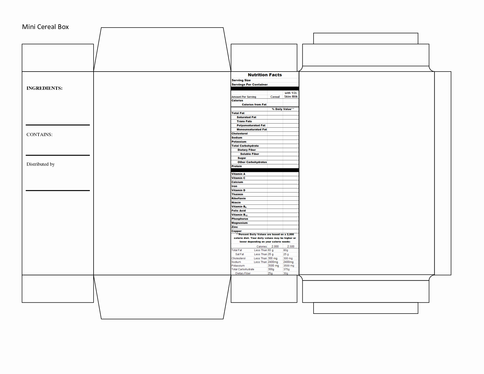 Create A Cereal Box Unique Cereal Box Template Scope Of Work Template