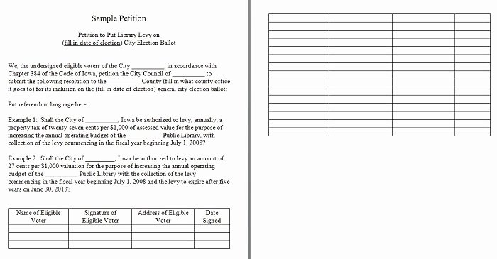 Create A Petition form Beautiful 30 Free Petition Templates How to Write Petition Guide