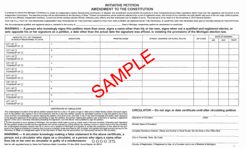 Create A Petition form New Ballot Petition Basics Michigan 2018 Msu Extension