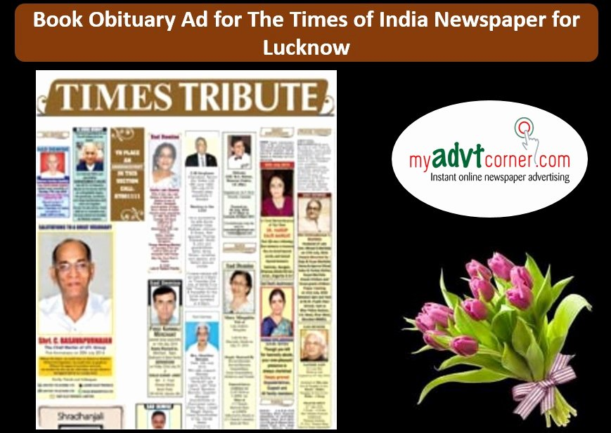 Create An Obituary Online Free Beautiful Make the Times Of India Obituary Ad Booking for Lucknow