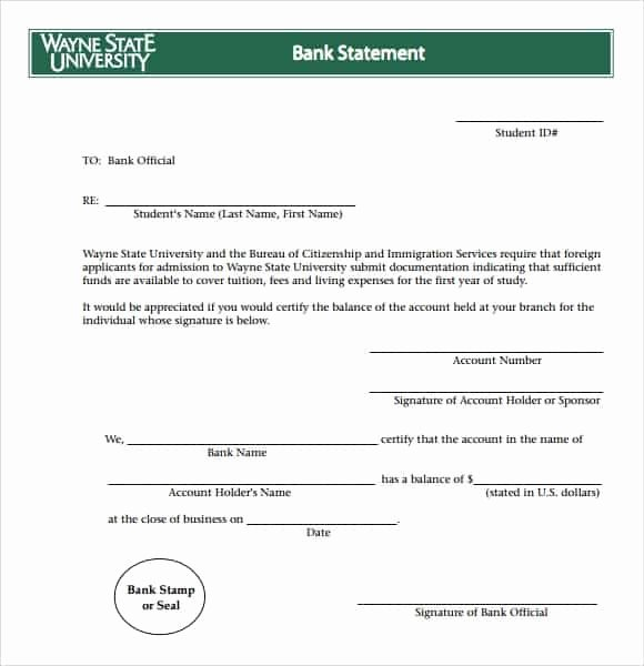 Create Bank Statements Free Awesome 9 Free Bank Statement Templates Word Excel Sheet Pdf