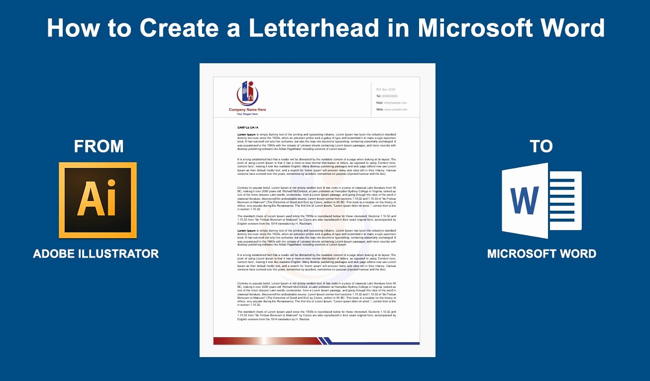 Create Letterhead Template In Word Fresh How to Create A Letterhead In Microsoft Word 2016 2013