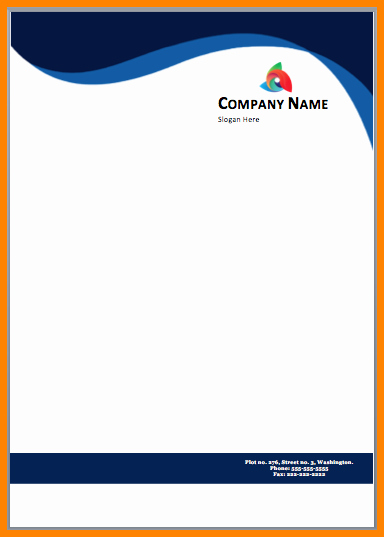 Create Letterhead Template In Word Lovely Letterhead Design Free Download