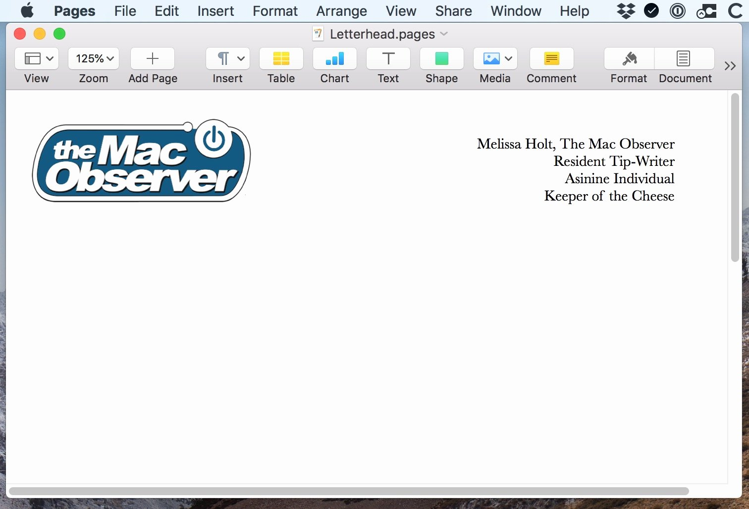 Create Letterhead Template In Word New Macos Creating Templates In Pages and Word the Mac Observer