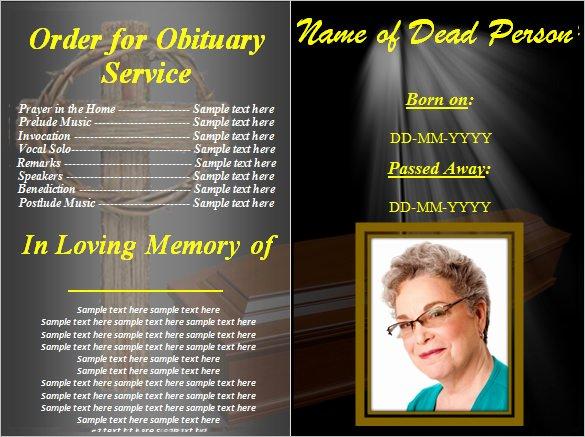 Create Obituary Online Free Awesome 5 Blank Obituary Templates Doc Pdf