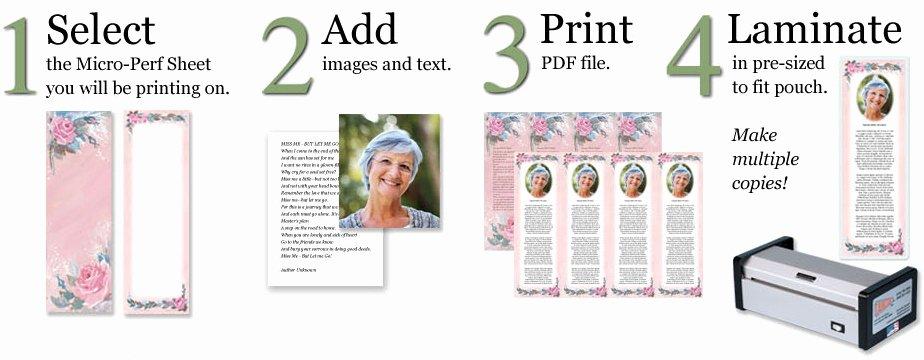 Create Obituary Online Free Awesome Make Custom Memorial Bookmarks Line