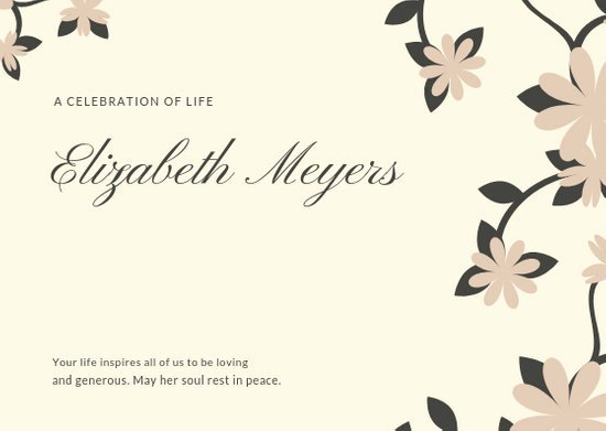 Create Obituary Online Free Fresh Customize 45 Obituary Card Templates Online Canva