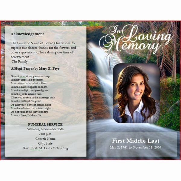 Create Obituary Online Free Lovely Downloadable Funeral Bulletin Covers