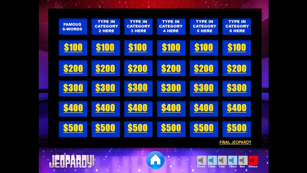Creating A Board Game Template Awesome Download the Best Free Jeopardy Powerpoint Template How