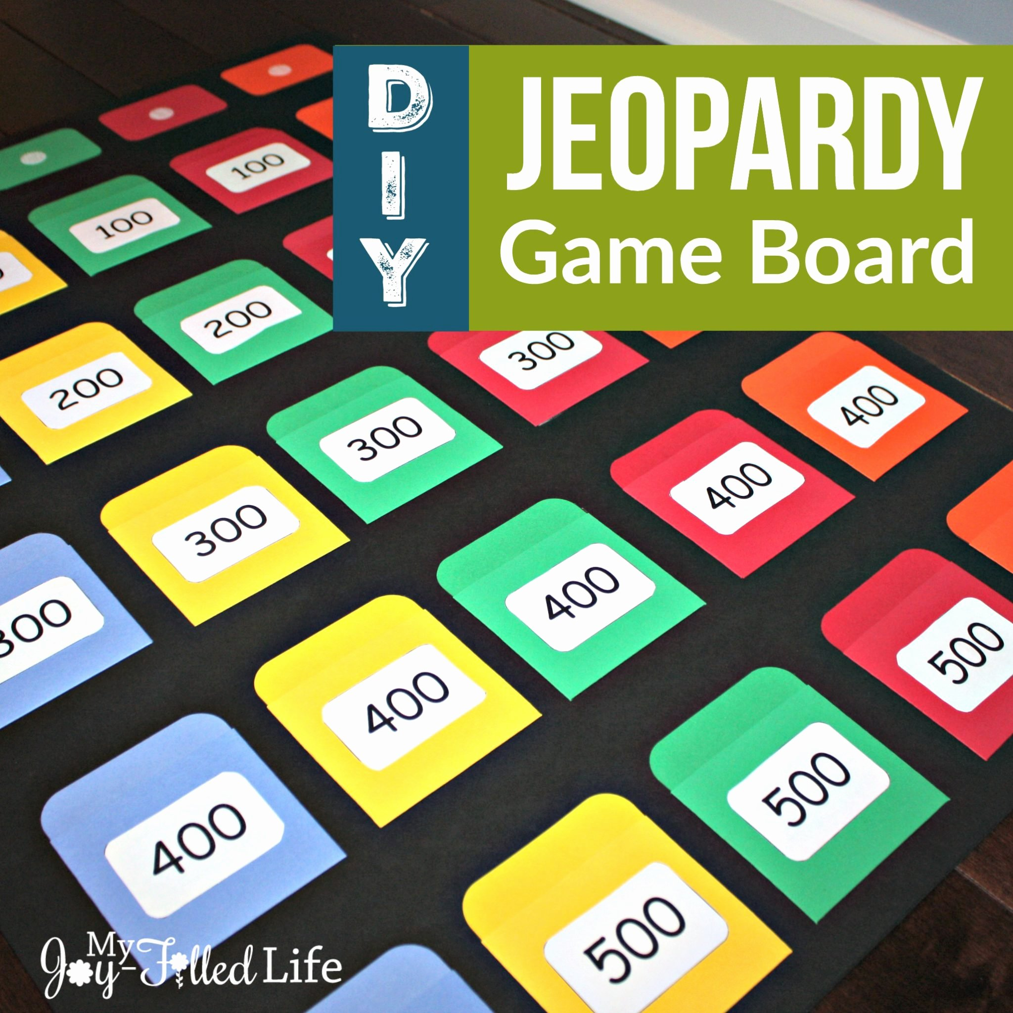 Creating A Board Game Template Inspirational Diy Jeopardy Game Board My Joy Filled Life