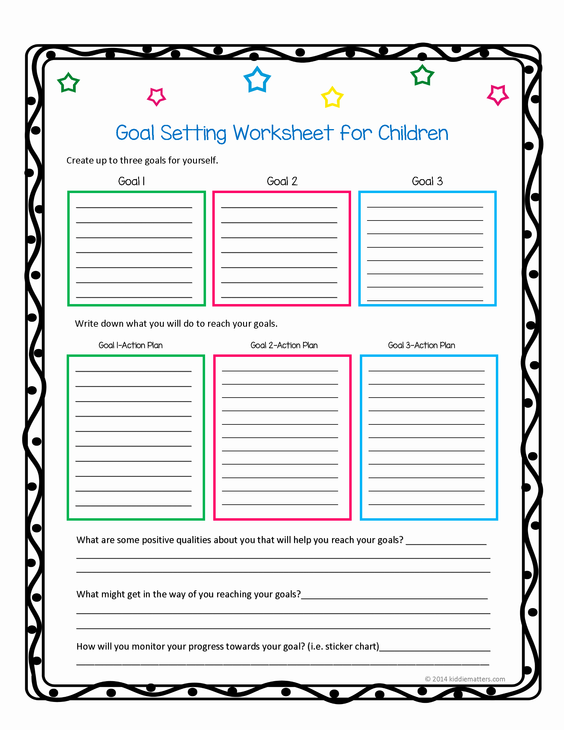 Creating A Life Plan Worksheet Inspirational This Worksheet and Free Printable Helps Children Learn How