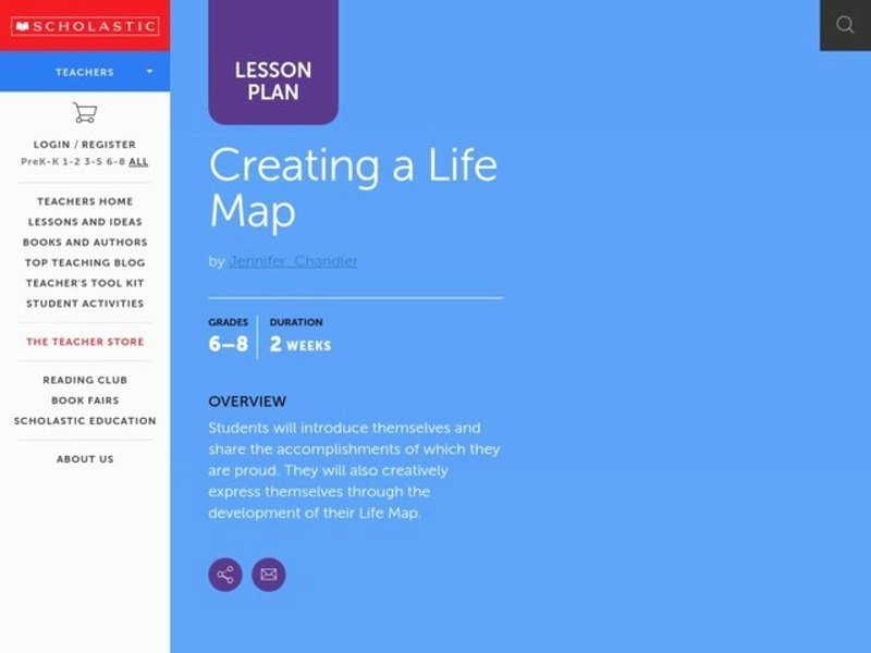 Creating A Life Plan Worksheet New Creating A Life Map Lesson Plan for 6th 8th Grade