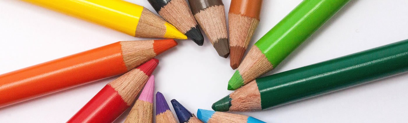 Creative Linkedin Background Photo Inspirational Colored Pencils