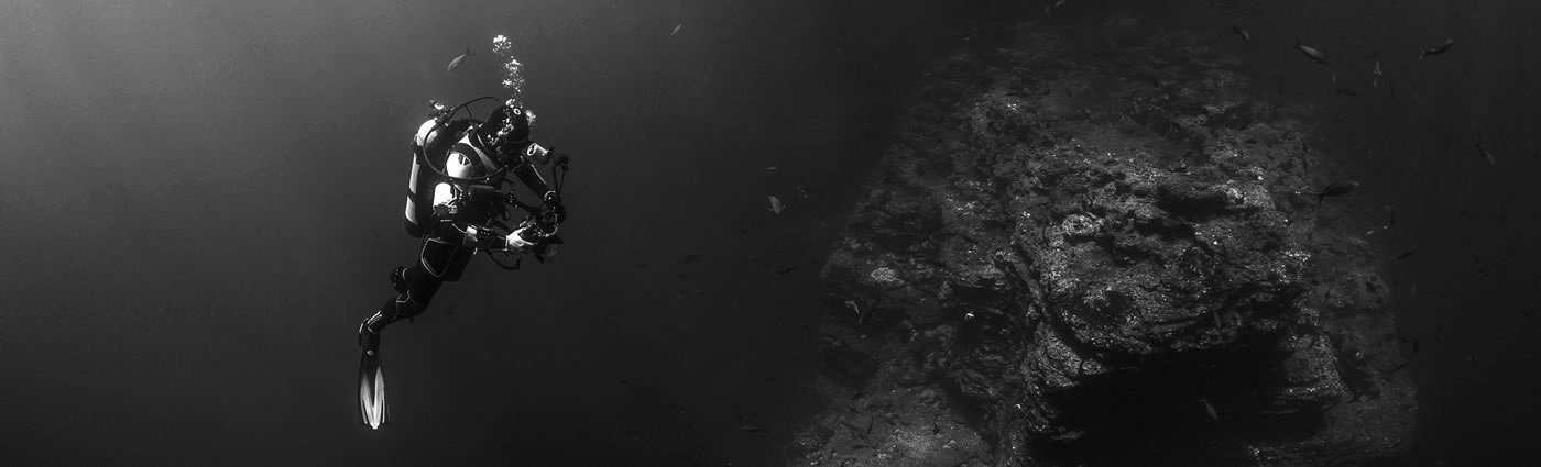 Creative Linkedin Background Photo Inspirational Scuba Diver