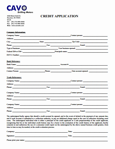 Credit Application Template Best Of Credit Application form Download Create Edit Fill and