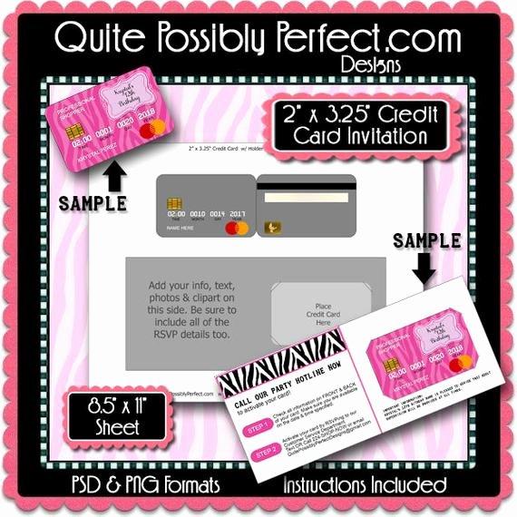 Credit Card Invitation Template Beautiful Credit Card Invitation Template with Editable Text is In Psd