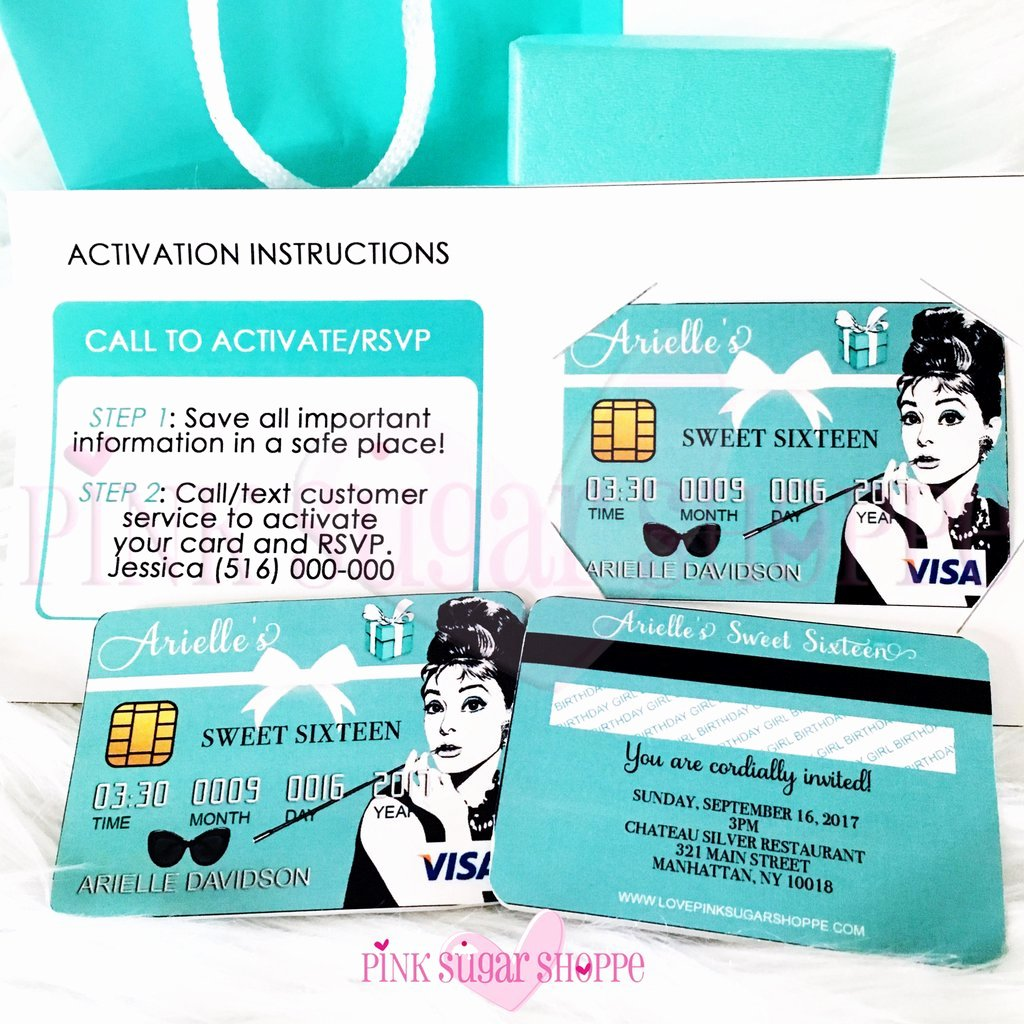 Credit Card Invitation Template Best Of Pink Sugar Shoppe Credit Card Invitation E Class – Pink
