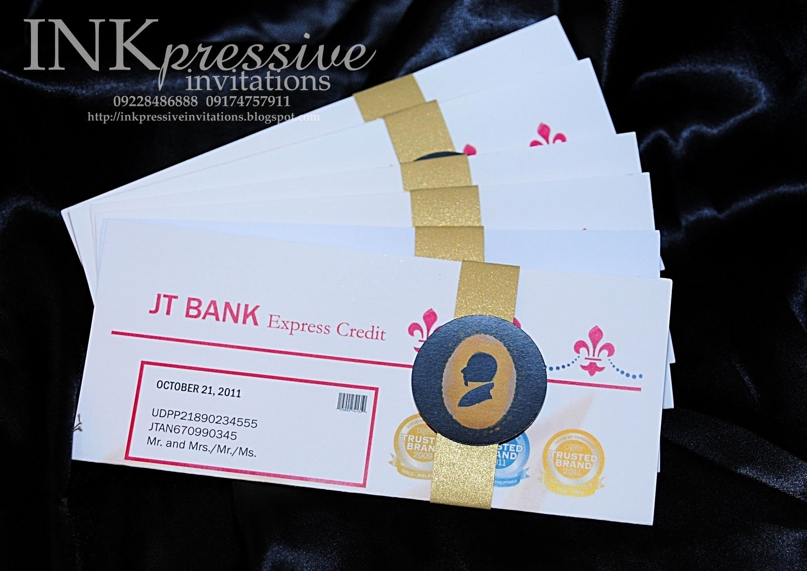 Credit Card Invitation Template Inspirational Credit Card Invitation Inkpressive Invitations and Crafts