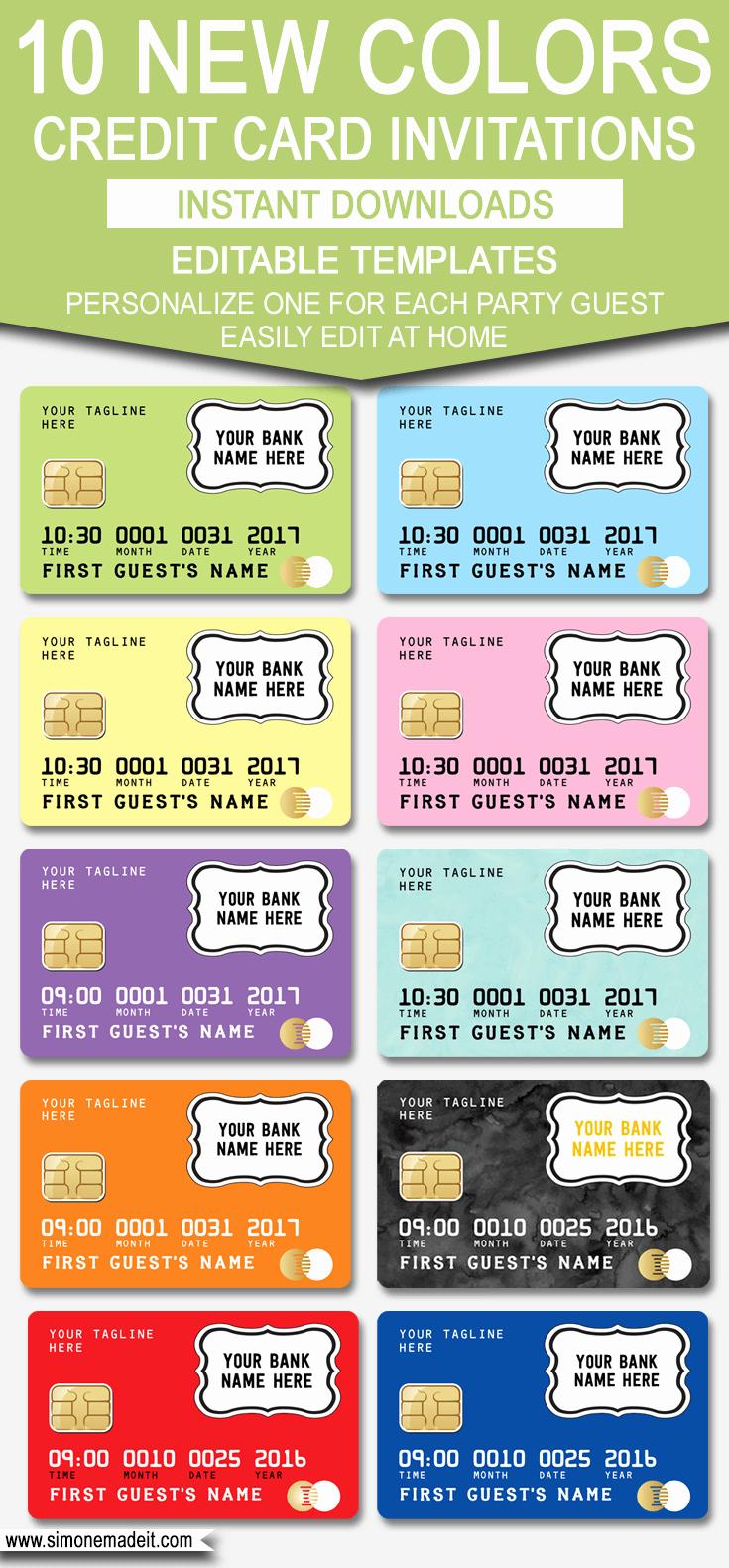 Credit Card Invitation Template Unique Credit Card Invitation