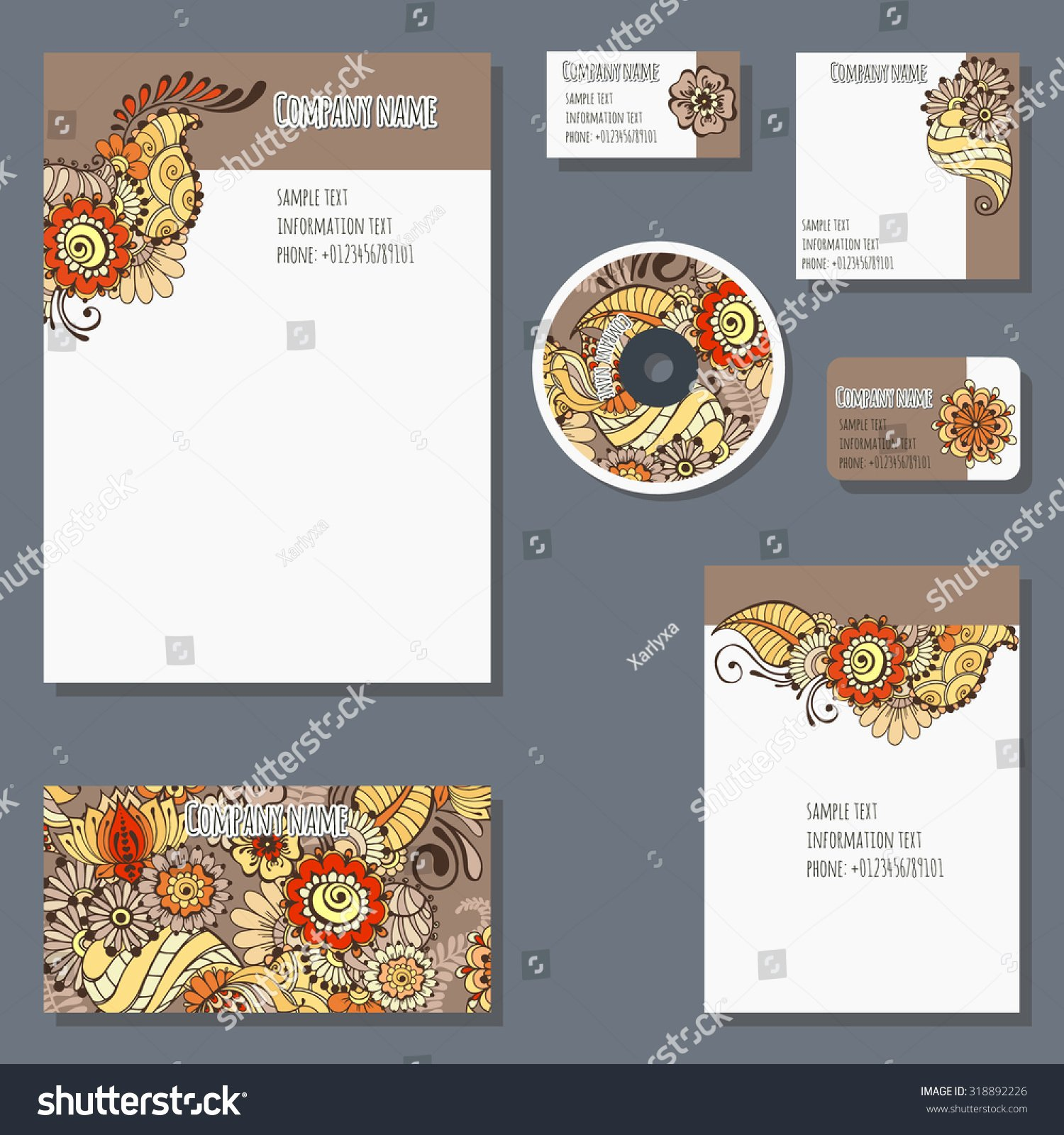 Credit Card Invitation Template Unique Set Templates Cd Disks Envelopes Notebooks Stock Vector