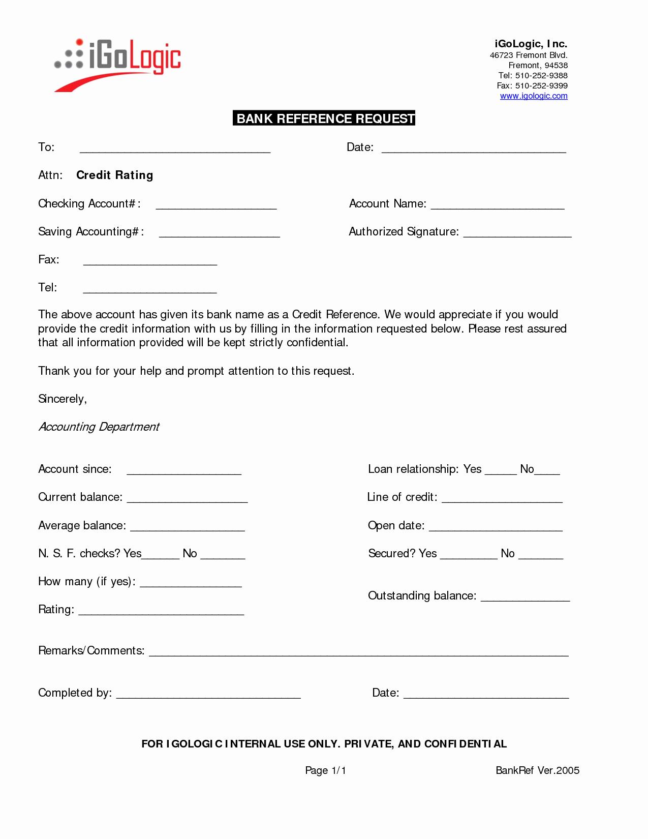 Credit Reference Sheet Template Elegant Business Credit Reference Template Free Printable Documents