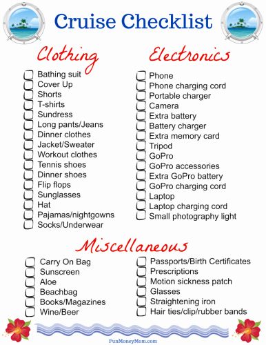Cruise Packing List Printable Elegant How to Pack for A Cruise with Free Printable Checklist