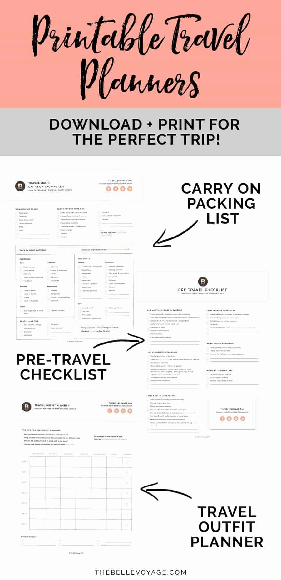 Cruise Packing List Printable Fresh Printable Ultimate Packing Checklist for Travel