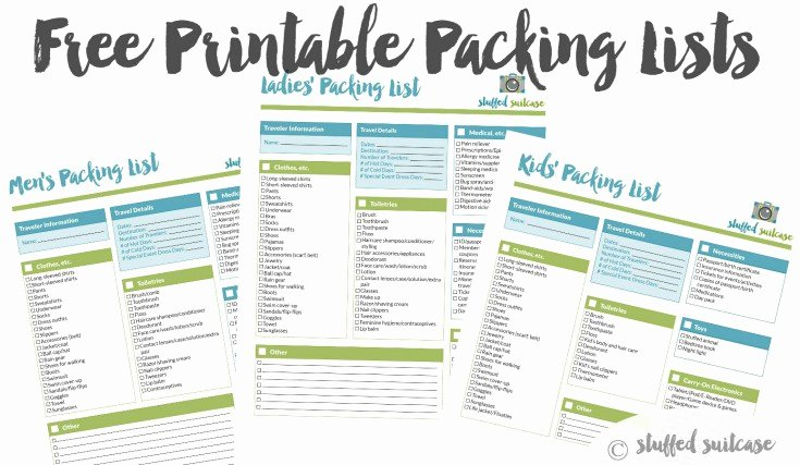 Cruise Packing List Printable Inspirational Packing List Template Printable Stuffed Suitcase