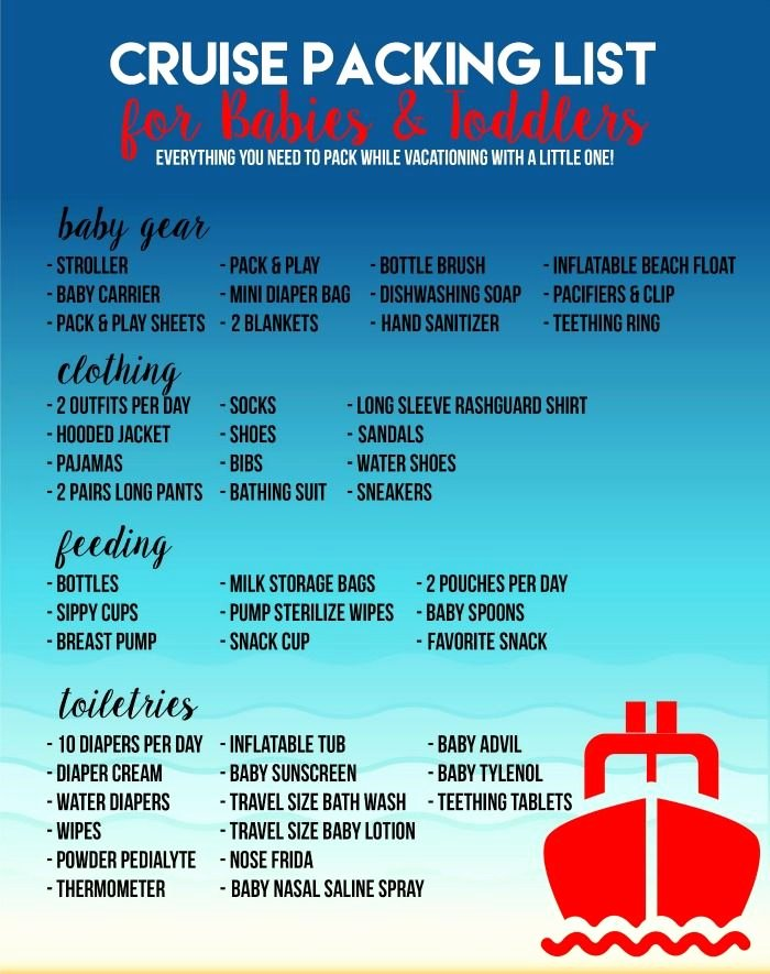 Cruise Packing List Printable Luxury Pin On Traveling with Babies