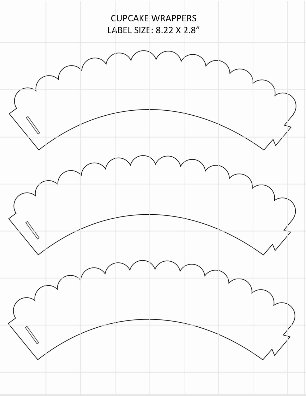 Cupcake Wrapper Template Awesome Waves Cupcake Wrapper Template