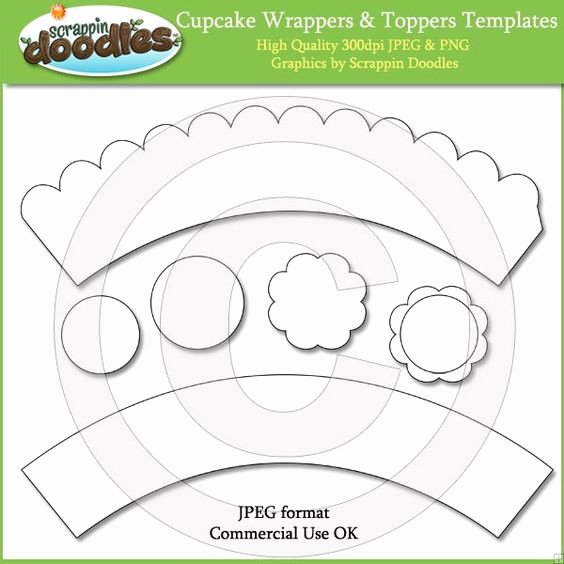 Cupcake Wrapper Template Best Of Cupcake Wrappers & toppers Templates Download