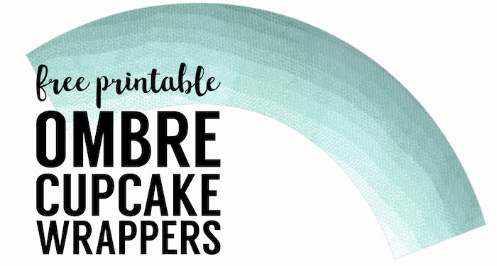 Cupcake Wrapper Template Best Of Free Printable Cupcake Wrapper Template Ombre Paper