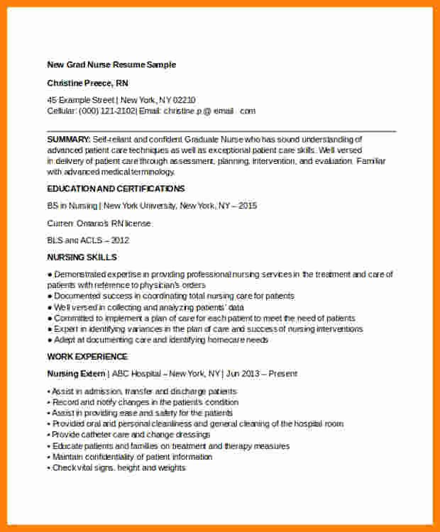Curriculum Vitae for Nurses Beautiful 13 Curriculum Vitae Examples for Nurses