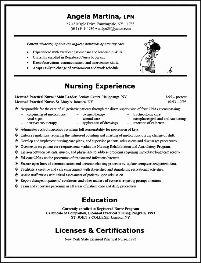 Curriculum Vitae for Nurses Beautiful Sample Curriculum Vitae for Nurses